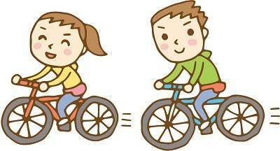 サイクリングのイラスト画像