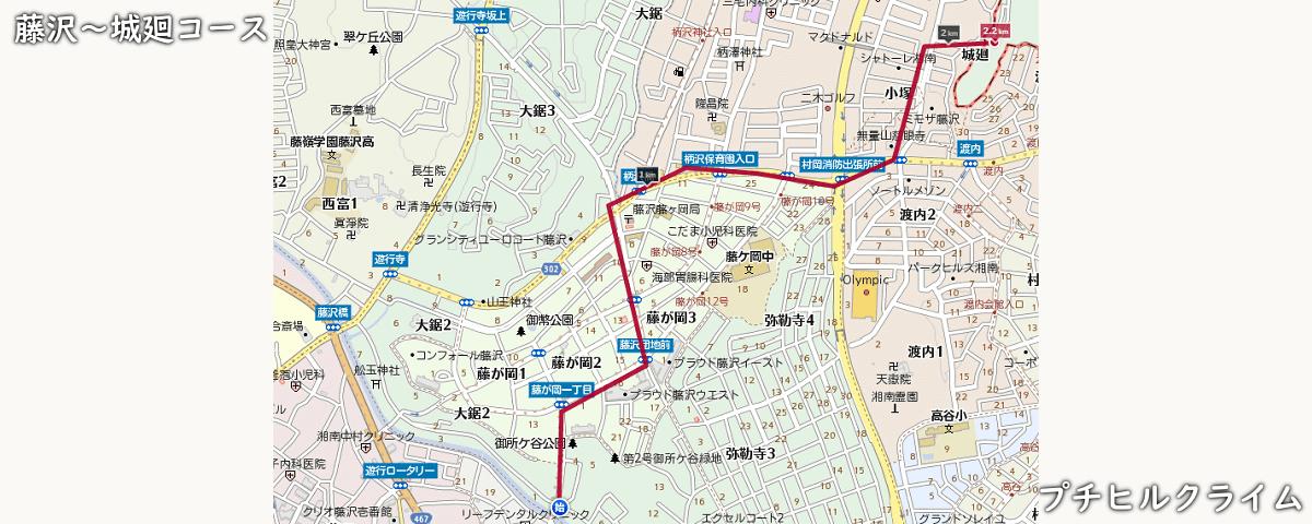 藤沢プチヒルクライムコースマップ