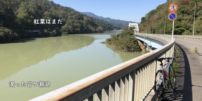 濁ってる宮ケ瀬湖