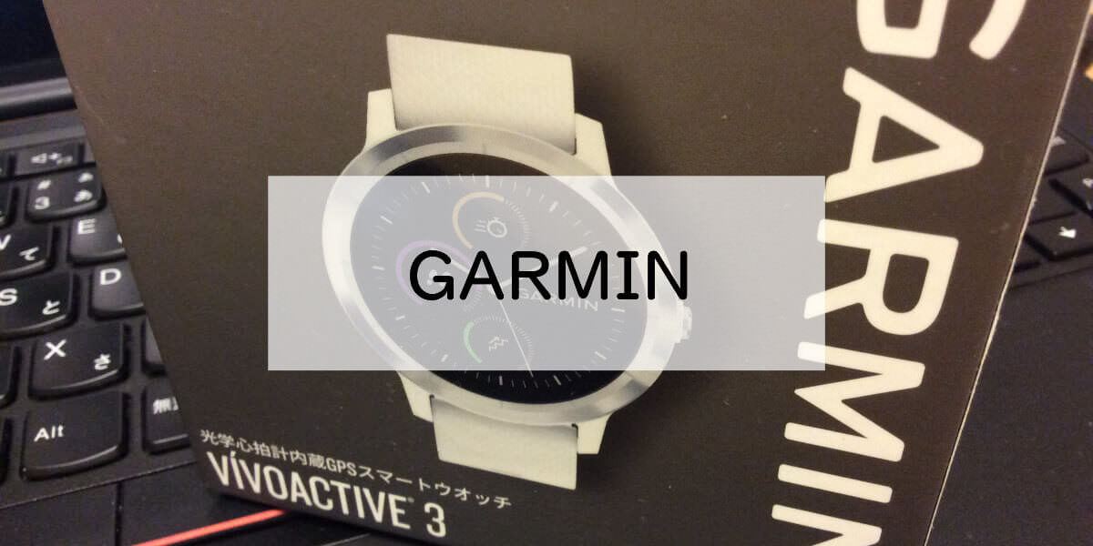 Garmin vivoactive3の外箱