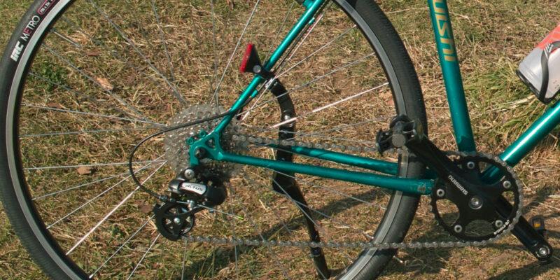 36Tのシングルフロントギアのクロスバイク