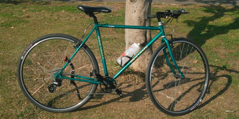 中古クロモリフレームから組み立てた自転車