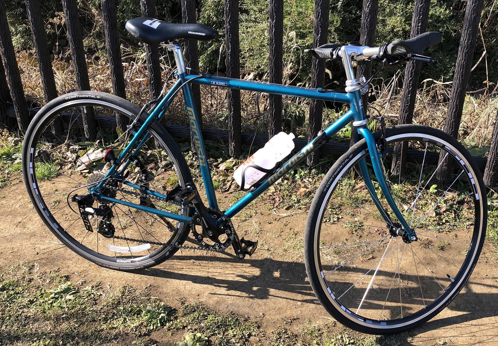 ホイールをWH-R501に変えたクロスバイク