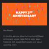 Zwift2周年メール