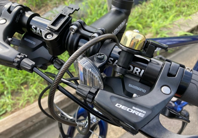 DEOREのブレーキレバーを装着したRAIL ACTIVEの画像