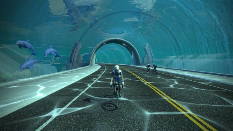 ワトピアの海底トンネルを紹介する画像