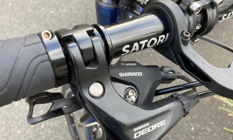 SL-RS700が装着されたハンドルを紹介する画像